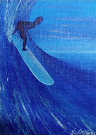 ロングボード[サーフィンの絵 ...