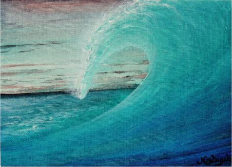THE 波[海の絵・波の絵画] No...