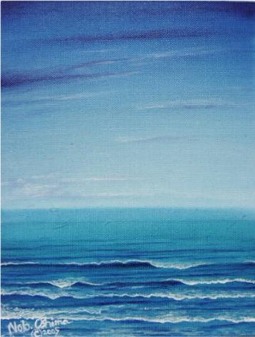 海と波[海の絵・波の絵画 ...